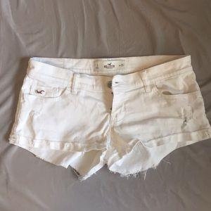 White Hollister Demin Shorts Low Rise